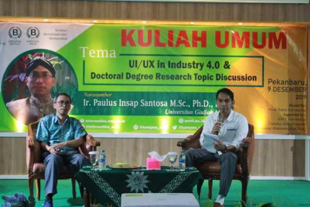 Kuliah umum UI/UX in Industry 4.0 Doctoral Degree Research Topic Discussion